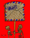 Cartoon: Pan Carta - Urgent! (small) by Munguia tagged bread pan carta letter mail banner hunger hungry thin starving air urgent africa 3rd world tercer mundo poverty