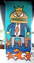 Cartoon: puente piano (small) by Munguia tagged mural,paint,art,costa,rica,bridge,piano,public,urban