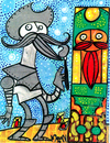 Cartoon: quijote de la mancha (small) by Munguia tagged quijote,mancha,painter,munguia