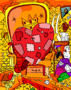 Cartoon: Rich and Poor (small) by Munguia tagged heart,corazon,poor,rich,king,money,teasure