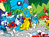 Cartoon: Smurf revolution (small) by Munguia tagged de,la,croix,smurf,pitufos,revolucion,french,liberty,munguia,costa,rica,centroamerica,central,america,parody,spoof,parodies