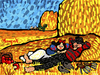 Cartoon: Snow White and Freddy Krueger (small) by Munguia tagged millet,van,gogh,noon,rest,from,work