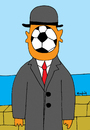 Cartoon: Son of the world (small) by Munguia tagged futball,soccer,world,cup,munguia,magritte