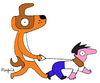 Cartoon: who is the leader? (small) by Munguia tagged dogs,alfa,leader,owner,lider,walk,perro,munguia,costa,rica,guau