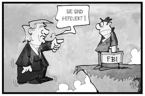 Cartoon: FBI (medium) by Kostas Koufogiorgos tagged karikatur,koufogiorgos,illustration,cartoon,fbi,trump,usa,entlassung,abgrund,gefeuert,karikatur,koufogiorgos,illustration,cartoon,fbi,trump,usa,entlassung,abgrund,gefeuert