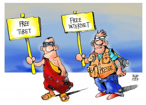 Cartoon: Free Internet! (medium) by Kostas Koufogiorgos tagged olympische,spiele,olympia,tibet,presse,internet,free,menschenrechte,pressefreiheit,china,kostas,koufogiorgos,olympia,olympiade,olymp,olympische spiele,olympische,spiele,frust,frustration,protest,demo,demonstration,demonstrieren,kampf,freiheit,frei,menschenrechte,menschenrecht,zensur,sperre,diktatur,china,tibet,mönch,presse,pressefreiheit,journalismus,journalist,internet