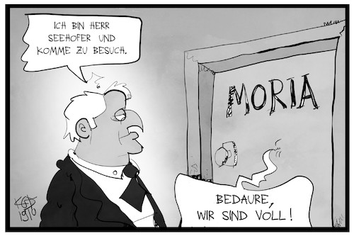 Seehofer in Moria