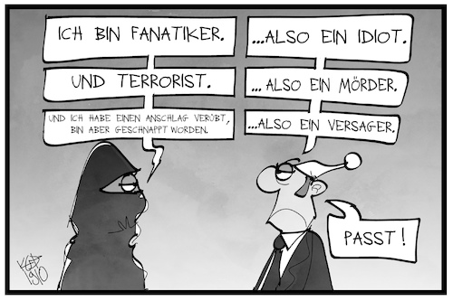 Cartoon: Terrorismus (medium) by Kostas Koufogiorgos tagged karikatur,koufogiorgos,illustration,cartoon,terror,terrorismus,anschlag,michel,moerder,fanatiker,fanatismus,terrorist,analyse,straftat,kriminalität,karikatur,koufogiorgos,illustration,cartoon,terror,terrorismus,anschlag,michel,moerder,fanatiker,fanatismus,terrorist,analyse,straftat,kriminalität