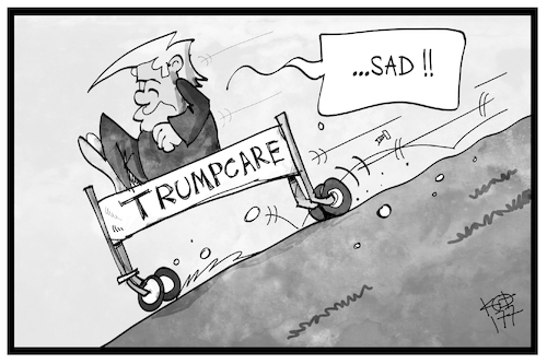 Cartoon: Trumpcare (medium) by Kostas Koufogiorgos tagged karikatur,koufogiorgos,illustration,cartoon,trumpcare,obamacare,statue,denkmal,scheitern,gesundheitsreform,usa,politik,karikatur,koufogiorgos,illustration,cartoon,trumpcare,obamacare,statue,denkmal,scheitern,gesundheitsreform,usa,politik