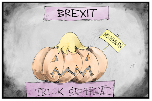 Cartoon: UK-Neuwahlentricks (medium) by Kostas Koufogiorgos tagged karikatur,koufogiorgos,illustration,cartoon,uk,johnson,halloween,neuwahlen,kürbis,trick,or,treat,finte,brexit,eu,europa,karikatur,koufogiorgos,illustration,cartoon,uk,johnson,halloween,neuwahlen,kürbis,trick,or,treat,finte,brexit,eu,europa
