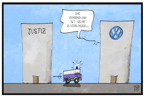Cartoon: VW (medium) by Kostas Koufogiorgos tagged karikatur,koufogiorgos,illustration,cartoon,vw,justiz,automobilkonzern,wirtschaft,dieselgate,markt,manipulation,karikatur,koufogiorgos,illustration,cartoon,vw,justiz,automobilkonzern,wirtschaft,dieselgate,markt,manipulation