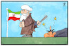 Cartoon: Aufstand im Iran (small) by Kostas Koufogiorgos tagged karikatur,koufogiorgos,illustration,cartoon,iran,proteste,demonstrant,niederschlagung,gewalt