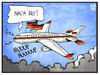 Cartoon: Merkel und Gauck (small) by Kostas Koufogiorgos tagged karikatur,koufogiorgos,illustration,cartoon,merkel,gauck,luftwaffe,flugzeug,fahne,flagge,deutschland,fan,fussball,wm,sport,finale,rio
