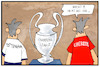 Cartoon: No Brexit (small) by Kostas Koufogiorgos tagged karikatur,koufogiorgos,illustration,cartoon,brexit,cl,champions,league,tottenham,liverpool,fussball,grossbritannien,uk,uefa