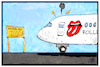 Cartoon: Rolling Stones (small) by Kostas Koufogiorgos tagged karikatur,koufogiorgos,illustration,cartoon,rolling,stones,musik,tour,concert,beatles,star,club,hamburg,karriere