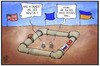 Cartoon: Southstream-Pipeline (small) by Kostas Koufogiorgos tagged karikatur,koufogiorgos,illustration,cartoon,southstream,europa,ukraine,usa,westen,tuerkei,russland,pipeline,gas,energie,wirtschaft,politik