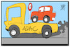 Cartoon: Tempo 130 (small) by Kostas Koufogiorgos tagged karikatur,koufogiorgos,illustration,cartoon,adac,tempolimit,130,autofahrer,abschleppen,panne