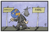 Cartoon: UN-Klimakonferenz (small) by Kostas Koufogiorgos tagged karikatur,koufogiorgos,illustration,cartoon,un,klimakonferenz,erde,welt,umwelt,paris,marrakesch,wanderung,umweltschutz