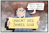 Cartoon: Unwort des Jahres (small) by Kostas Koufogiorgos tagged karikatur,koufogiorgos,illustration,cartoon,unwort,dobrindt,csu,rechtspopulismus,sprache