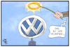 Cartoon: VW-Neuanfang (small) by Kostas Koufogiorgos tagged karikatur,koufogiorgos,illustration,cartoon,vw,volkswagen,neuanfang,heiligenschein,logo,auto,autobauer,wirtschaft,automobilindustrie