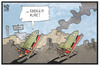 Cartoon: Waffenruhe in Syrien (small) by Kostas Koufogiorgos tagged karikatur,koufogiorgos,illustration,cartoon,syrien,waffenruhe,bombe,rakete,ruhe,russland,usa,krieg,konflikt,feuerpause