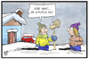 Cartoon: Wintereinbruch (small) by Kostas Koufogiorgos tagged karikatur,koufogiorgos,illustration,cartoon,schnee,schaufeln,schaffen,winter,wetter,wintereinbruch,kälte