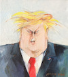 Cartoon: Donald (small) by Marlene Pohle tagged trump,karikatur,präsidentenköpfe,politik