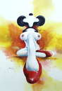 Cartoon: Mariposa (small) by Oscar Barrientos tagged pin,toons