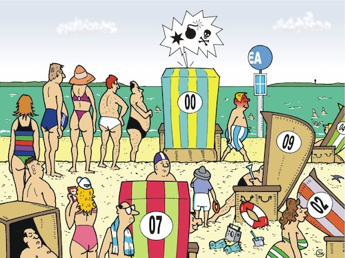 Cartoon: Strandkörbe (medium) by JotKa tagged strandkorb,strand,beach,sonne,sun,meer,see,ocean,coast,vacation,holiday,ferien,urlaub,freizeit,wc,toilet,toiletten,urlauber,sand,strandkorb,strand,beach,sonne,sun,meer,see,ocean,coast,vacation,holiday,ferien,urlaub,freizeit,wc,toilet,toiletten,urlauber,sand