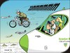 Cartoon: Da oben - Up in the sky (small) by JotKa tagged luftfahrt,piloten,stewardess,moped,nsu,quickly,visionen,täuschungen,illusionen,überraschungen,flugzeug,motoren,geschwindigkeit,aviation,pilots,motorcycle,visions,illusions,surprises,aircraft,engines,power,speed