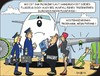 Cartoon: Sparmaßnahmen - Economy measure (small) by JotKa tagged flugzeug,triebwerk,mechaniker,technik,manager,management,kosten,sparen,kostendruck,sparzwang,treibstoff,benzin,reisen,urlaub,fliegen,airline,surpriseair,pilot,copilot,crew,fluggast,passagier,flugpreis,kostensenkungsprogramm,aircraft,engine,mechanic,techno