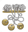 Cartoon: Elephants (small) by grega tagged wild,animals