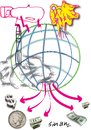 Cartoon: world pollution (small) by sinan yavuz tagged world,pollution,universal