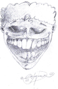 Cartoon: LAUGH (small) by CIGDEM DEMIR tagged smile,laugh,man,people,happiness,cartoon,portre