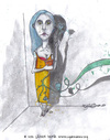 Cartoon: The observation of the bird (small) by CIGDEM DEMIR tagged bird,observation,blue,rose