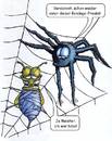 Cartoon: Fetisch im Netz (small) by bertgronewold tagged spinne,fliege,netz,bondage