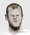 Cartoon: Wayne Rooney (small) by AkinYaman tagged wayne,rooney