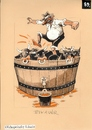 Cartoon: Bikaver wine (small) by Dluho tagged wine harvest