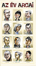 Cartoon: Faces of the Year 2004 (small) by Dluho tagged know people