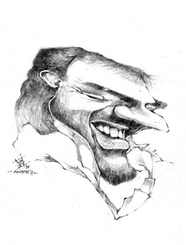 Cartoon: andrea bocelli (medium) by cakBOY tagged singer,caricature,bocelli,andrea