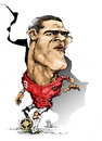 Cartoon: cristian gonzales (small) by cakBOY tagged cristian gonzales el loco caricature timnas indonesia