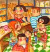 Cartoon: baker shop blues (small) by siobhan gately tagged bakery,bread,cakes,people,france