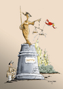 Cartoon: Justitia (small) by paraistvan tagged justitia,statue,truth,justice,injustice,fraud,rascality