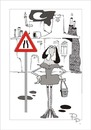 Cartoon: Traffic sign (small) by paraistvan tagged traffic,sign,woman