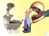 Cartoon: Burger (small) by ataysozer tagged hamburger