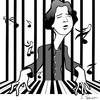 Cartoon: Fazil Say (small) by semra akbulut tagged fazil,say,semra,akbulut