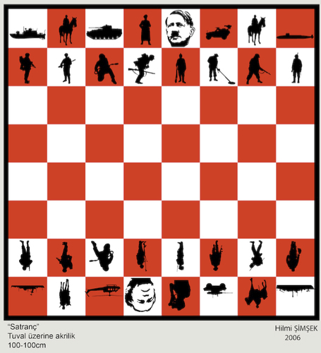 Cartoon: chess (medium) by Hilmi Simsek tagged chess,satranc,bush,adolf