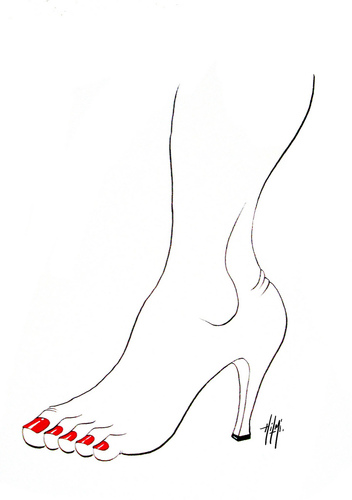 Cartoon: Women shoes (medium) by Hilmi Simsek tagged ayakkabi,bayan,women,shoe