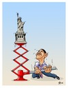 Cartoon: The USA country of freedoms (small) by Hilmi Simsek tagged the,usa,country,of,freedoms,obama,liberty,statue,hilmi,simsek,cartoon