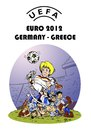 Cartoon: UEFA EURO 2012 GERMANY - GREECE (small) by Hilmi Simsek tagged uefa,euro,2012,germany,greece,football,soccer,angela,merkel,hilmi,cartoon,caricature